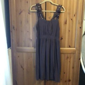 Brown sleeveless Anthropologie Dress